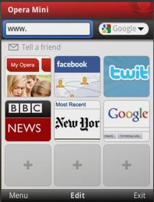 Программа Opera Mobile 10 для LG KP500
